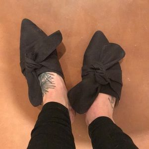 Topshop cloth and bow slides/mules